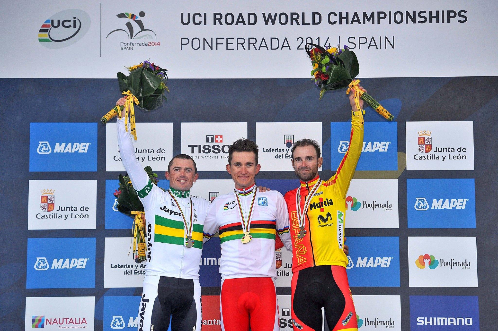 Simon Gerrans (Australia); Michal Kwiatkowski (Poland); Alejandro Valverde Belmonte (Spain)
